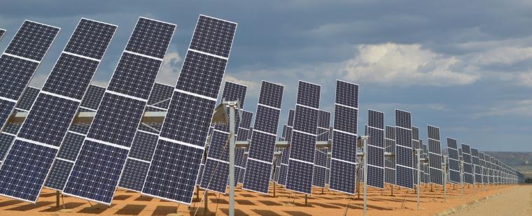 Solar panels, renewable energy